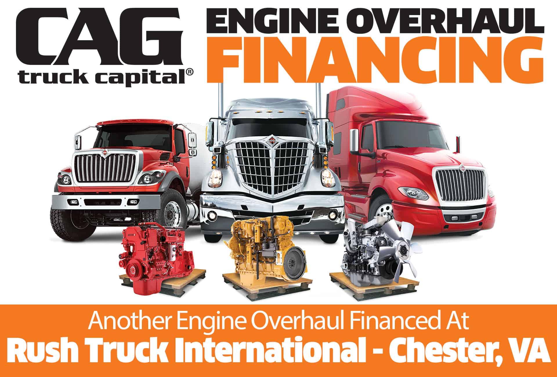 Rush International Engine Overhaul Financing Chester VA